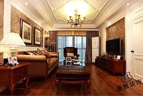 欧式古典风格装修客厅吊顶效果图