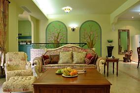 田园风格家装客厅装修效果图