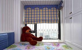 田园家居儿童房飘窗窗帘装修效果图