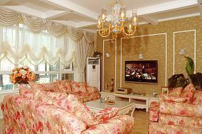 面积77平美式二居客厅欣赏图片