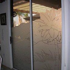 现代简约家居磨砂玻璃移门图案