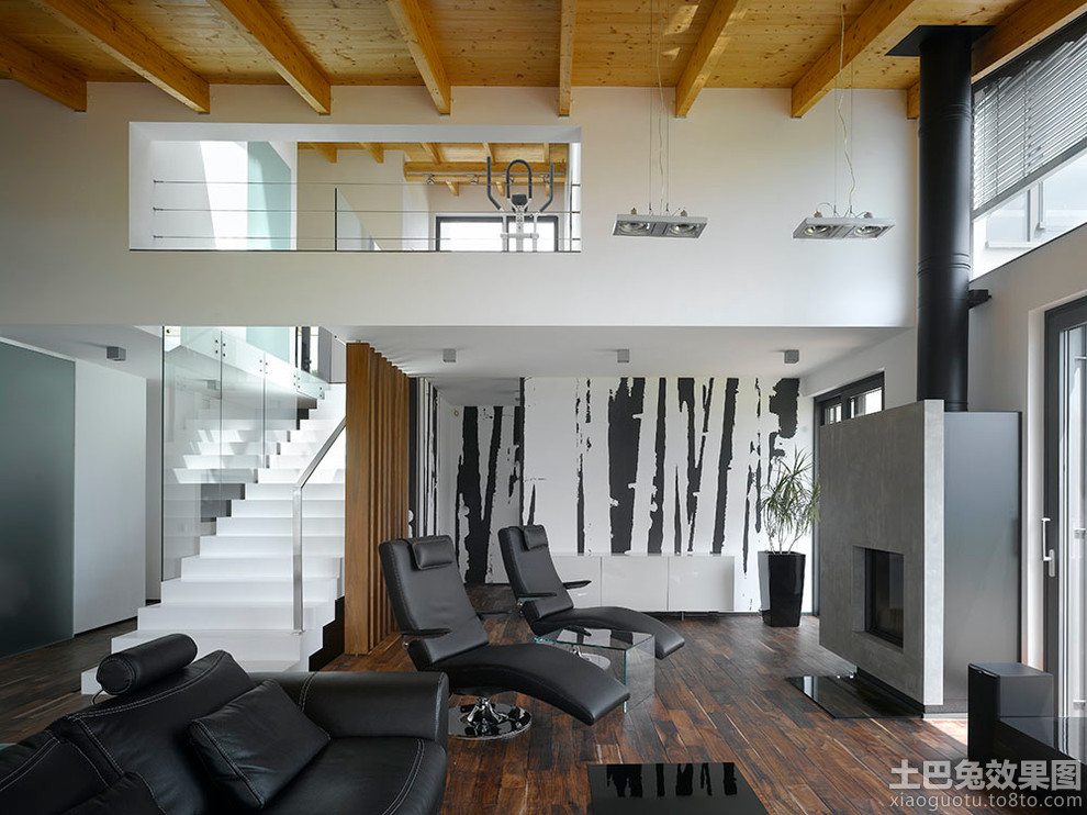 loft style bedroom ideas - 小别墅内部装修图片 土巴兔装修效果图
