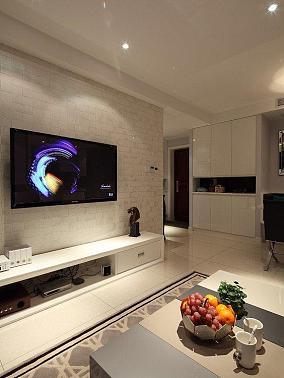 简约小户型装修文化砖电视背景墙效果图