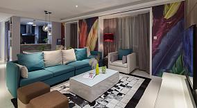 现代风格两室两厅家庭客厅装修设计