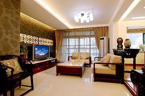 131平米中式别墅客厅装修图