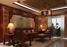 2018面积90平中式三居客厅装修欣赏图片大全