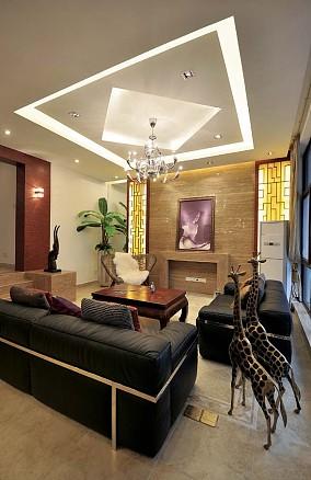 113平米现代复式休闲区装饰图片