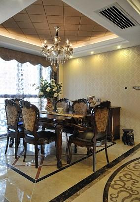 欧式古典风格餐厅吊顶效果图大全