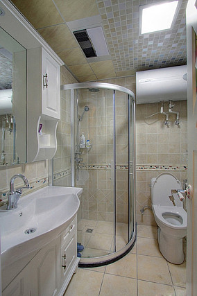 精美86平米田园小户型卫生间装修设计效果图片
