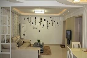 81平米简约小户型客厅装饰图片