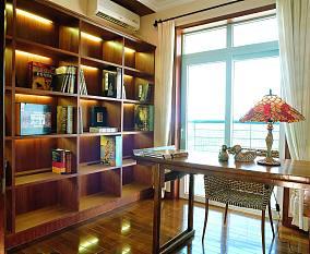 热门面积79平小户型书房中式装修欣赏图