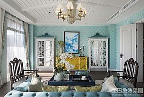 新中式风格别墅大厅装修效果图