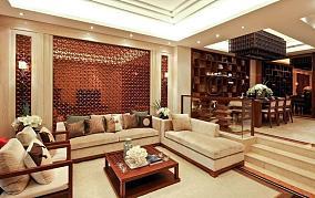 精选面积112平别墅客厅中式装修图片