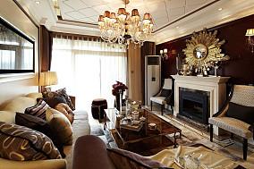 精美面积76平新古典二居客厅效果图片大全