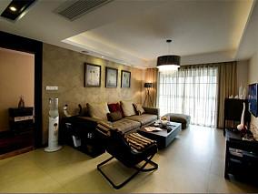 后现代风格两室两厅装修客厅效果图