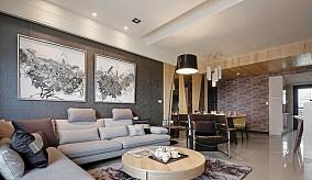 86平米二居客厅简约装修设计效果图片大全
