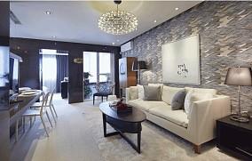 2018精选面积82平小户型客厅现代效果图片欣赏