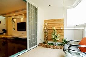 面积71平小户型阳台简约设计效果图