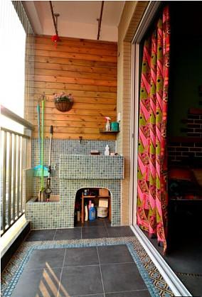 波西米亚风格家庭阳台装修效果图