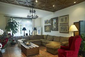 面积86平小户型客厅田园装饰图片