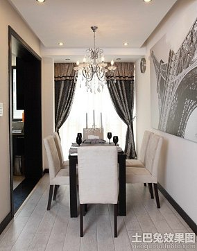现代风格小户型家庭装修图片餐厅