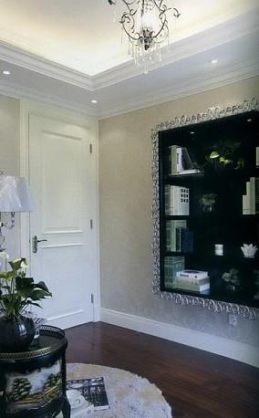 现代欧式风格书房门装修效果图