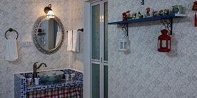 田园风格时尚卫生间梳妆台装修效果图