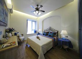 精美面积80平小户型卧室地中海装饰图