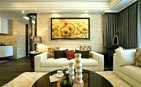 精美72平方二居客厅现代装修实景图片欣赏