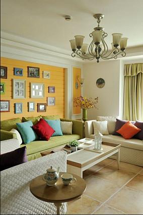 面积98平田园三居休闲区装修设计效果图片
