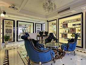 欧式风格豪华书房设计效果图