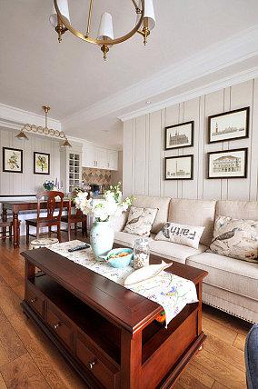 热门一居客厅美式装修欣赏图片