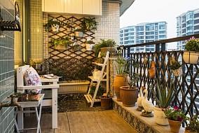 地中海小户型阳台设计效果图