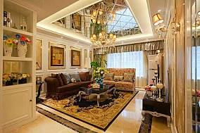 精美面积70平欧式二居客厅装修图