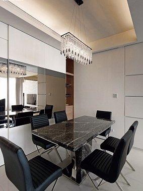 精选大小109平现代三居餐厅装修设计效果图片