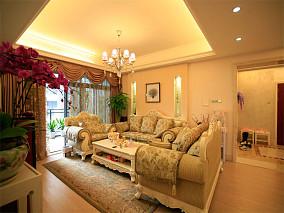 欧式田园风格客厅装修效果图欣赏大全