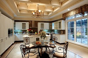 面积89平小户型厨房欧式装修图片