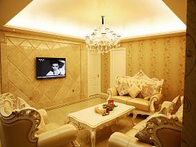 201880平米欧式小户型客厅装修图片