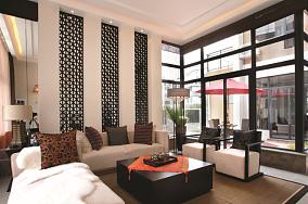现代中式风格客厅装修效果图片欣赏
