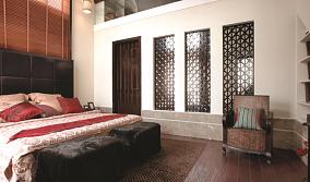 91平米三居卧室中式装修图片欣赏