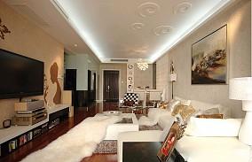 热门面积104平简约三居客厅装修实景图片