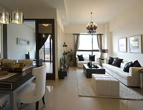 热门84平米现代小户型客厅装修图