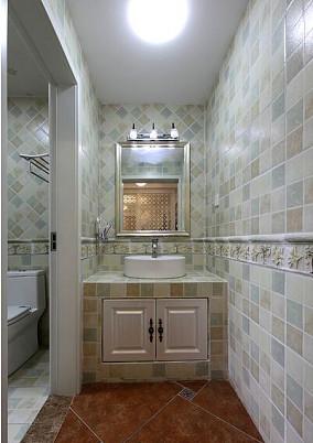 面积71平小户型卫生间欧式装修效果图片