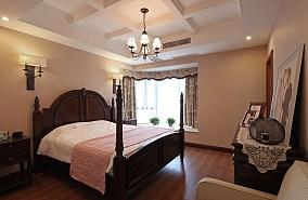 201891平米三居卧室美式装修效果图片