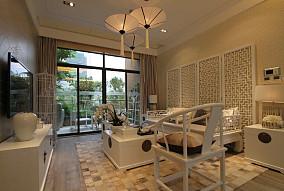面积108平简约三居客厅装饰图片