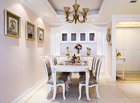 2018精选面积121平欧式四居餐厅装修效果图片欣赏