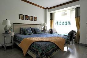 复古东南亚风格卧室设计效果图