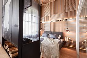 现代风格卧室隔断柜效果图