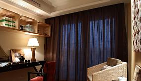 深色书房窗帘图片