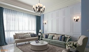 时尚家装120平米三室两厅装修客厅效果图大全